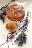 Herbal Tea And Lavender Fotodruck von Erika Craddock