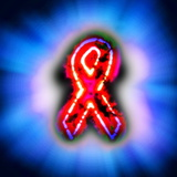 Red Ribbon, AIDS Awareness, Artwork Photographic Print by Christian Darkin