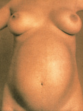 Naked Torso of a Pregnant Woman Photographic Print by  Cristina