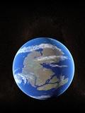 Earth At Time of Pangea Fotodruck von Christian Darkin