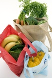 Food Shopping In Reusable Bags Posters by Erika Craddock