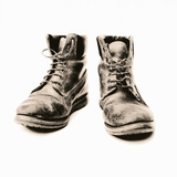 Worker's Boots Premium Photographic Print by Kevin Curtis