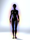 Naked Woman's Body with Aura, Artwork Poster by Christian Darkin