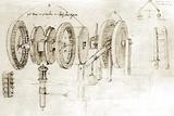 Da Vinci's Notebook Fotografisk tryk af Library of Congress