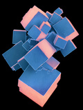 Coloured SEM of Pure Salt Crystals Photographic Print by Dr. Jeremy Burgess