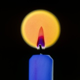 Candle And Flame Photographic Print by Dr. Jeremy Burgess