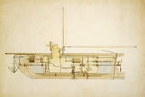 19th Century Military Submarine, Artwork Photographic Print by Library of Congress