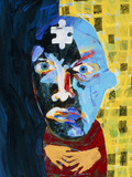 Abstract Artwork of Man Depicting Mental Illness Poster by Paul Brown