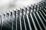 Lined Up Dominoes Photographic Print by Victor De Schwanberg