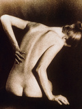 Posterior View of Naked Woman with Back Pain Posters by  Cristina