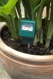 Soil PH Meter In a Plant Pot Photographic Print by Trevor Clifford