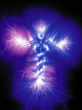 Caduceus Symbol, Kirlian Photograph Photographic Print by  Booth