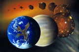 Richard Bizley - Formation of the Earth, Artwork - Fotografik Baskı