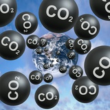 Carbon Dioxide And Climate Change Photographic Print by Victor De Schwanberg