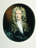 Coloured Engraving of Isaac Newton Photographic Print by Dr. Jeremy Burgess