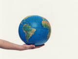 Inflated Earth Globe Photographic Print by  Cristina