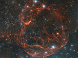 Simeis 147 Supernova Remnant Photographic Print by Davide De Martin