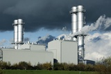 Combined Cycle Gas Turbine Power Station Photographic Print by Martin Bond