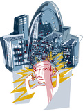 City Stress Print by Paul Brown