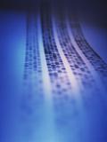 Autoradiogram Showing a DNA Fingerprint Photographic Print by Colin Cuthbert