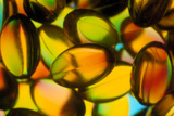 Macrophotograph of Cod Liver Oil Capsules Photographic Print by Dr. Jeremy Burgess