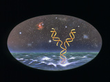 Artist's Impression of the Origin of Life on Earth Photographic Print by Paul Harcourt Davies