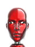 Humanoid Robot Head Photographic Print by Robert Brocksmith