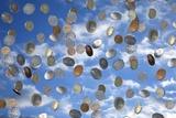 Money Shower Reprodukcja zdjęcia autor Victor De Schwanberg