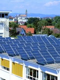 Rooftop Solar Panels, Germany Photographic Print by Martin Bond