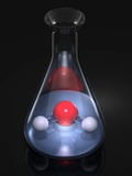 Water Molecule In a Flask, Artwork Posters by Laguna Design