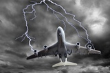 Lighting Striking An Aeroplane, Composite Photographic Print by Victor De Schwanberg