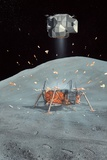 Apollo 17 Ascent Stage, Artwork Photographic Print by Richard Bizley