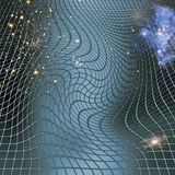 Gravity Waves In Space-time, Artwork Photographic Print by Victor De Schwanberg