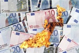 Burning Money, Conceptual Image Print by Victor De Schwanberg