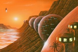 Martian Colony, Artwork Prints by Richard Bizley