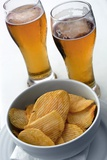 Beer And Crisps Print by Tony Craddock