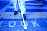 Blind Man on a Crossing Photographic Print by  Cristina