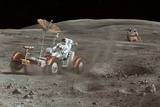 Apollo 16 Lunar Rover, Artwork Prints by Richard Bizley