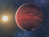 Artwork Depicting the Planet 51 Pegasi B & Its Sun Prints by Chris Butler