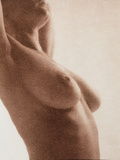 Side View of the Naked Torso of a Woman Photographic Print by  Cristina