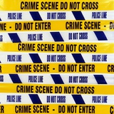 Crime Scene Tape Premium Photographic Print by Kevin Curtis
