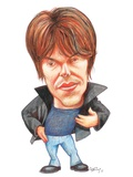 Brian Cox, Caricature Photographic Print by Gary Brown
