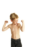 Boy Posing Photographic Print by Ian Boddy
