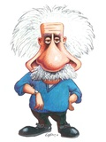 Albert Einstein, Caricature Photographic Print by Gary Brown
