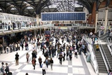 Liverpool Street Railway Station Photographic Print by Victor De Schwanberg