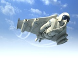 Jetman, Artwork Photographic Print by Henning Dalhoff