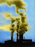 False-colour Photograph of Industrial Pollution Photo by Dr. Jeremy Burgess
