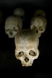 Skulls of Rwanda Genocide Victims Fotografisk tryk af Tony Camacho