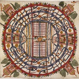 Jain Cosmological Map, 19th Century Photographie par Library of Congress