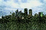 Digital City, Computer Artwork Prints by Christian Darkin